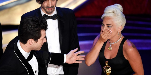 """Lady Gaga took home her first Oscar for her song in """"A Star Is Born."""""""