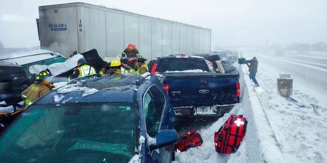Officials said that one person was killed and 71 others were injured in the pileup on Interstate 41.