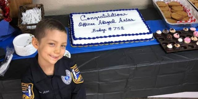 Six-year-old girl fighting cancer becomes honorary police officer in Freeport
