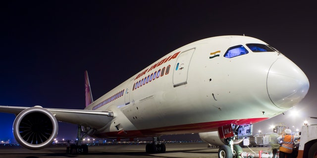 An Air India flight was reportedly delayed several hours on Sunday after a swarm of bees landed on the cockpit window before take-off.