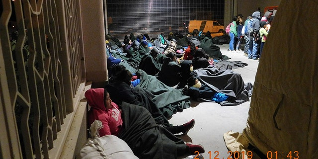 A group of 311 migrants, mostly Central American families and unaccompanied minors, was captured Monday near El Paso, Texas. (Customs and Border Protection)