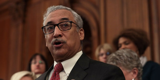 """WASHINGTON, DC - JANUARY 30: U.S. Rep. Bobby Scott (D-VA) speaks during a news conference at the U.S. Capitol January 30, 2019 in Washington, DC. House Democrats held a news conference to introduce the """"Paycheck Fairness Act."""" (Photo by Alex Wong/Getty Images)"""