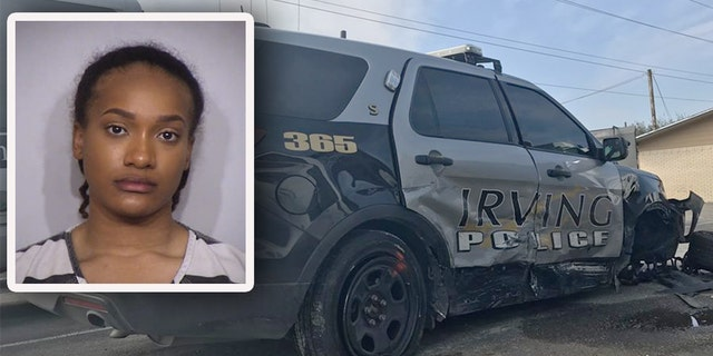 Brianna Noel James was arrested after the crash in Irving, Texas.