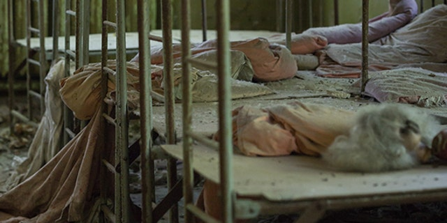 Beds in a former daycare centre slowly rust away. (Credit: Media Drum World)
