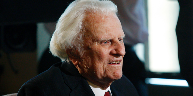 Evangelist Billy Graham, who died in 2018, is seen at the Billy Graham Evangelistic Association headquarters in Charlotte, N.C., Dec. 20, 2010. (Associated Press)