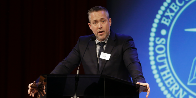 In this Feb. 18, 2019 photo, Southern Baptist Convention President J.D. Greear speaks to the denomination's executive committee in Nashville, Tenn. Southern Baptist officials have cleared seven churches accused of covering up sexual abuse just days after the top leader called for greater scrutiny following a joint newspaper investigation that uncovered rampant sexual misconduct. The Houston Chronicle and the San Antonio Express-News report that a Southern Baptist Convention working group announced only three churches should be at risk of losing membership over their handling of allegations of sexual abuse. (AP Photo/Mark Humphrey)