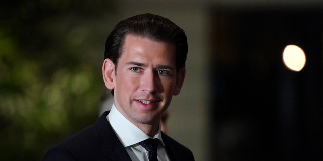 Austrian Chancellor Sebastian Kurz arrives at Japanese Prime Minister Shinzo Abe's official residence before his meeting in Tokyo, Feb. 15, 2019. Chancellor Kurz is on a three-day visit to Japan. (Franck Robichon/Pool Photo via AP)