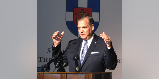 Albert Mohler, president of Southern Baptist Theological Seminary, penned a column criticizing a California county for going too far with a coronavirus-themed order banning singing. (AP Photo/Bruce Schreiner, File)