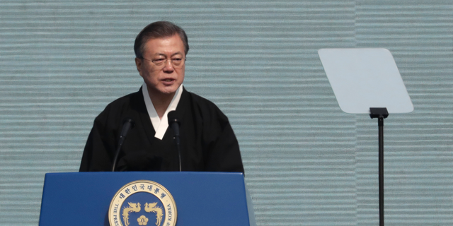 "South Korean President Moon, who appointed the embattled politician last week, faces a declining approval rating as defends his decision, saying it would set a ""bad precedent"" if he withdraws a ministerial nominee based on unproven allegations."