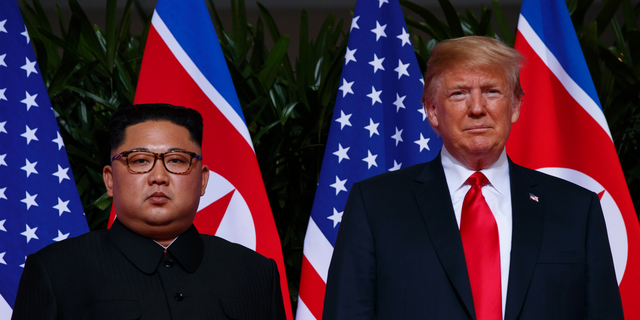 In this June 12, 2018, photo, U.S. President Donald Trump stands with North Korean leader Kim Jong Un during a meeting on Sentosa Island, in Singapore. For some observers, the nightmare result of the second summit between Trump and Kim is an ill-considered deal that allows North Korea to get everything it wants while giving up very little, even as the mercurial leaders trumpet a blockbuster nuclear success. (AP Photo/Evan Vucci)