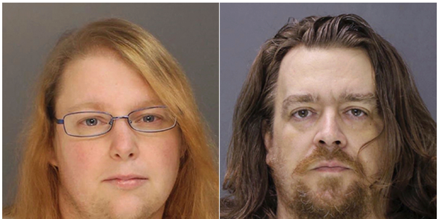 FILE - This combination of file photos provided on Sunday, Jan. 8, 2017, by the Bucks County District Attorney shows Sara Packer, left, and Jacob Sullivan. Sullivan pleaded guilty Tuesday, Feb. 19, 2019, to first-degree murder in the 2016 death of 14-year-old Grace Packer. Grace's adoptive mother, Sarah Packer, is expected to testify against Sullivan during the penalty phase of his trial. She has agreed to plead guilty and serve a life sentence. (Bucks County District Attorney via AP, File)
