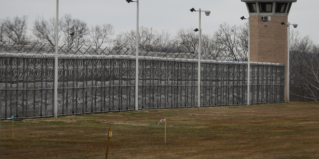 """FILE - In this Jan. 9, 2019 file photo, fences line the exterior of the Southern Ohio Correctional Facility, in Lucasville, Ohio. Ohio authorities have confiscated several fake handguns and a fake explosive device at the prison in what they're calling """"a very serious and unique situation."""" Prisons spokeswoman JoEllen Smith says contraband drawings of handguns were also confiscated Tuesday, Feb. 12, 2019. (AP Photo/John Minchillo, file)"""