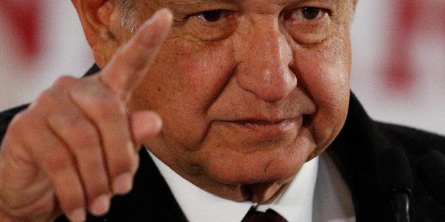 Mexican President Andres Manuel Lopez Obrador (AP Photo/Rebecca Blackwell)