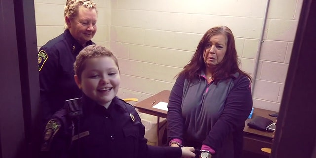 Although Ryleigh Williams is under chemotherapy to fight leukemia, she is also now a new cop in Georgia. (City of Griffin Police Department)