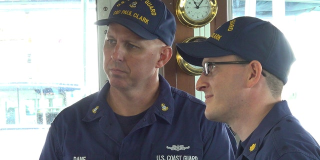 Crew members on the boat discuss recent cocaine busts.