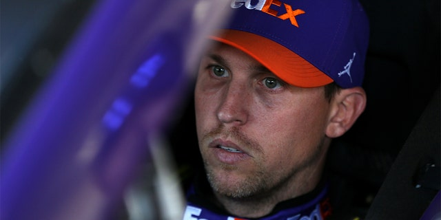 Denny Hamlin came out on top in the dramatic running of the Daytona 500. (Matt Sullivan/Getty Images, File)