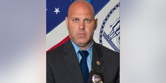 Det. Brian Simonsen was shot and killed by friendly fire during the armed robbery at a T-Mobile store in Queens, N.Y.