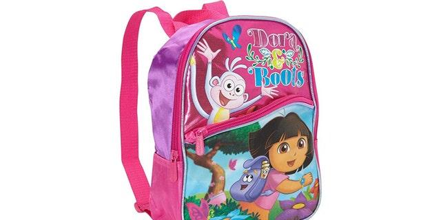 Pledges were forced to wear 'Dora the Explorer' backpacks.