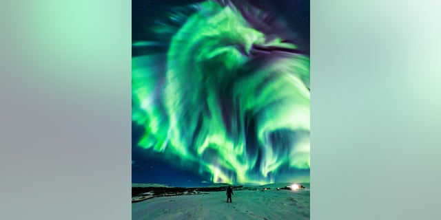 Image result for NASA Shares Photo of Unusual 'Dragon' Aurora in the Sky 2019