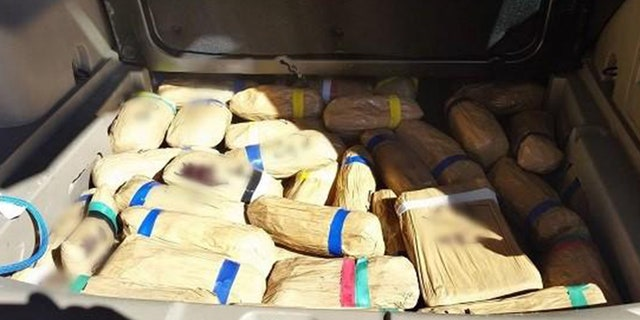 U.S. Customs and Border Protection officers found this haul of hard drugs in a Jeep SUV as part of three separate incidents at the U.S.-Mexico border in Arizona.