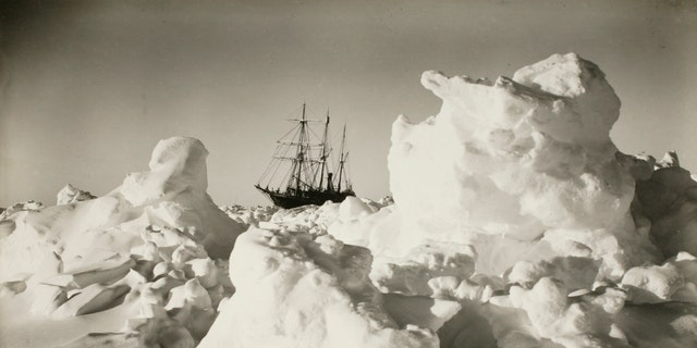 File photo - The 'Endurance' among great blocks of pressure ice during the Imperial Trans-Antarctic Expedition, 1914-17, led by Ernest Shackleton.
