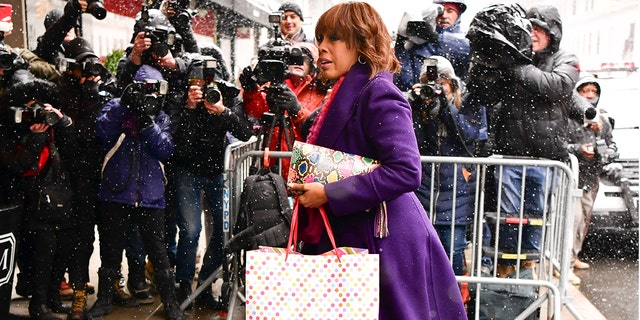 Gayle King arrives at the Mark Hotel for Duchess of Sussex, Meghan Markle's Baby Shower on Wednesday in New York City.