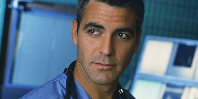 "George Clooney as Dr. Doug Ross on ""ER."""