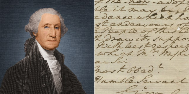 George Washington, circa 1780/The letter on God and the Constitution.