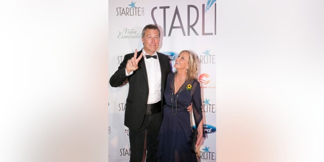 John Corbett and Bo Derek attend the Starlite Gala on August 11, 2018 in Marbella, Spain.