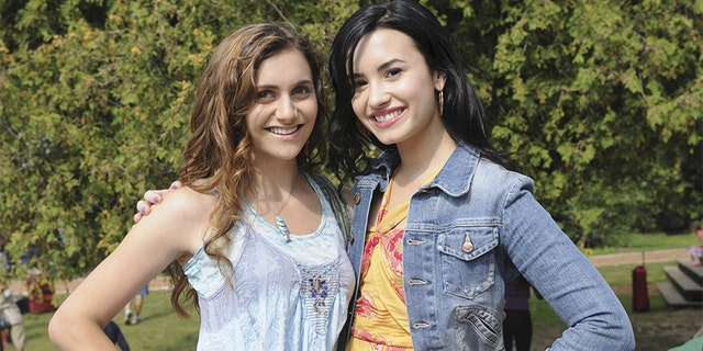 "Stoner, here with Demi Lovato during ""Camp Rock 2,"" said that at one point she became so thin that even casting directors suspected something was wrong.<br>