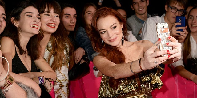 Lindsay Lohan attends the MTV EMAs 2018 at the Bilbao Exhibition Centre (BEC) on November 04, 2018 in Bilbao, Spain.