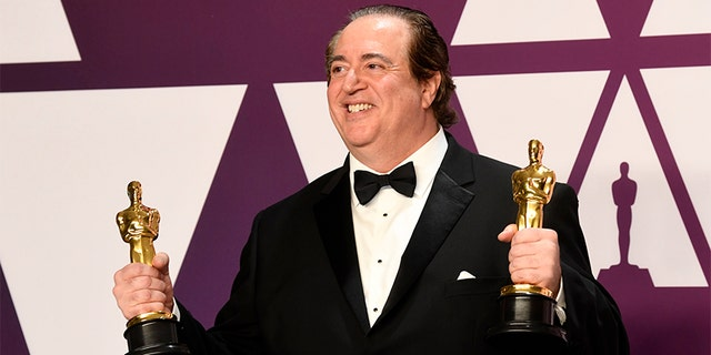 "Nick Vallelonga, winner of Best Picture and Best Original Screenplay for ""Green Book,"" poses in the press room during the 91st Annual Academy Awards at Hollywood and Highland on February 24, 2019 in Hollywood, California. — Getty"