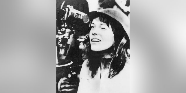 American actress and antiwar activist Jane Fonda pictured during her 1972 Vietnam trip though the scope of an anti-aircraft gun during her tour of the North Vietnamese capital.