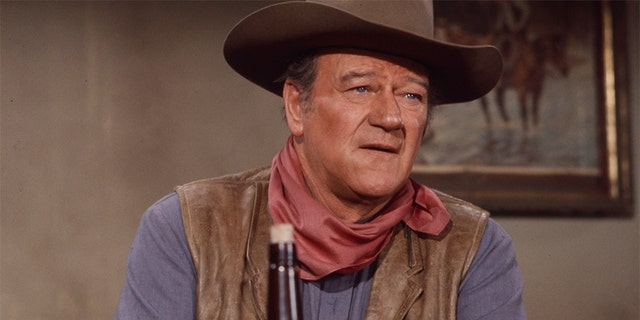 "John Wayne, behind the scenes of the making of ""Rio Lobo."""