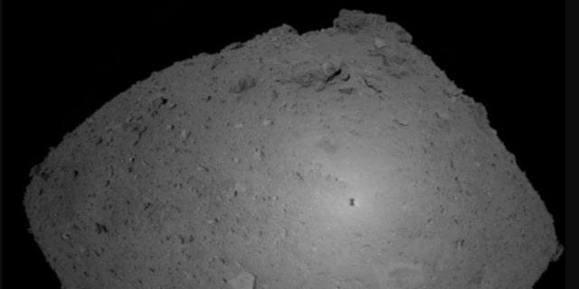 This Oct. 25, 2018, image provided by the Japan Aerospace Exploration Agency (JAXA) shows asteroid Ryugu.