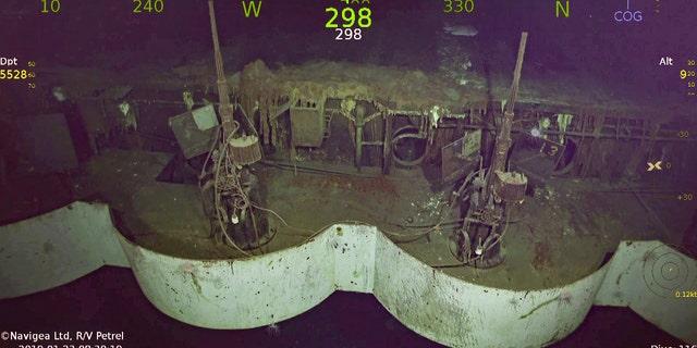 Oerlikon cannons on USS Hornet's port quarter deck.
