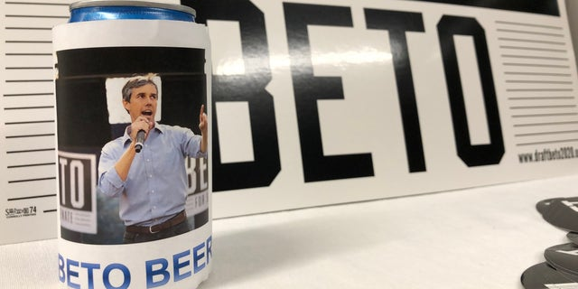 Draft Beto organizers created 'Beto Beer' to create a buzz about O'Rourke's presidential possibilities. (Rob DiRienzo/Fox News)