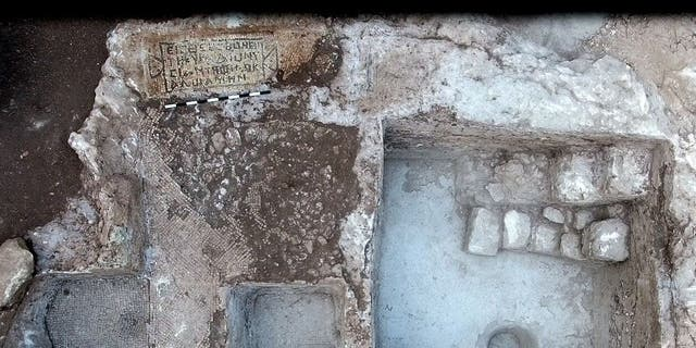 """The estate once belonged to a man named """"Adios."""" (Yitzhak Marmelstein, Israel Antiquities Authority)"""