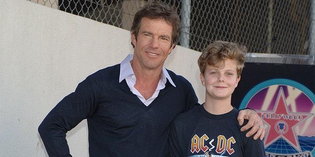 Dennis Quaid an son Jack in 2005.