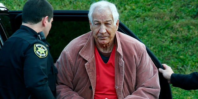Jerry Sandusky, pictured in 2015, was sentenced in 2012 to 30 to 60 years in state prison for sexual abuse of 10 boys. (AP Photo/Gene J. Puskar, File)