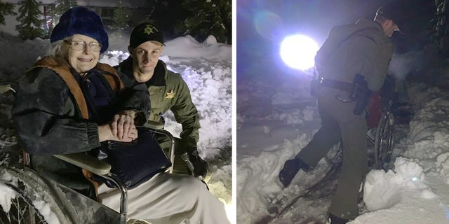 Amador County Sheriff's Deputy Casey Wilson rescued Joan Almstrom from her cold and powerless home on Saturday, officials said.