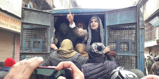 Yasmeen Raja, the 48-year-old chairperson of the Muslim Khawateen Markaz (MKM) – the female wing of the Jammu and Kashmir liberation from (JKLF) political party