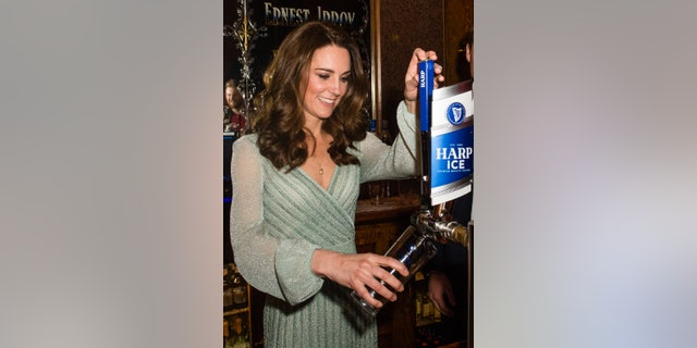 The 37-year-old-royal headed to an event at Belfast's Empire Music Hall wearinga green Missoni dresspriced at $2,480.