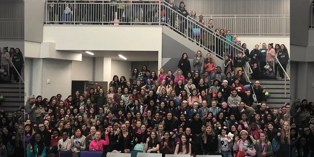More than 300 hundred females at Summit Trails Middle School – both staff and students included – reportedly received carnation flowers from the boys.