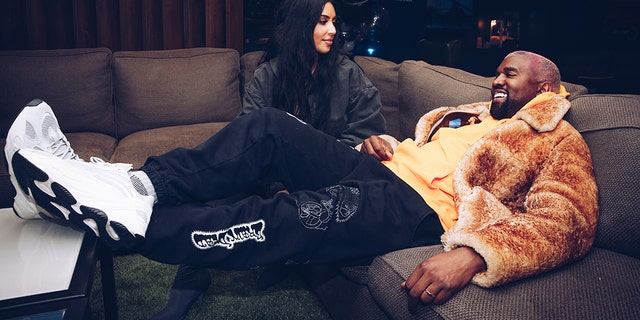 Kim Kardashian West and Kanye West attend the Travis Scott Astroworld Tour at The Forum on December 19, 2018 in Inglewood, California.