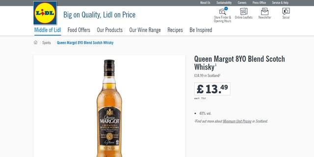 """""""The taste holds more barrel character, where a little concentration from time in cask gives wood spice length of finish,"""" the supermarket says."""