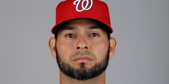 This is a 2019 photo of Anibal Sanchez of the Washington Nationals baseball team. This image reflects the 2019 active roster as of Friday, Feb. 22, 2019, when this image was taken.