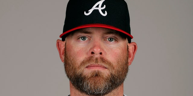 This is a 2019 photo of Brian McCann of the Atlanta Braves baseball team. This image reflects the 2019 active roster as of Friday Feb. 22, 2019, when this image was taken.