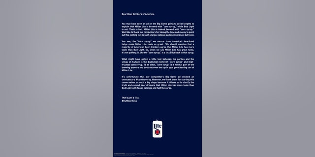 The company ran a full-page ad in The New York Times.