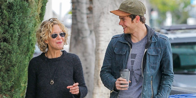 Meg Ryan and son Jack Quaid pictured in January 2016.